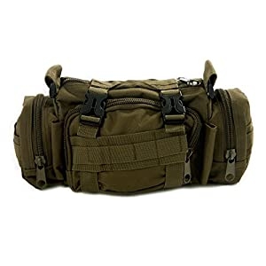 HDE Heavy-Duty Tactical Military Waist Pack Modular Deployment Utility Bag