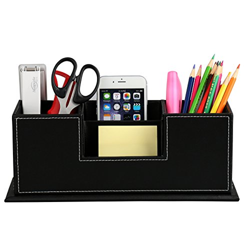 levin-desktop-leather-storage-box-4-divided-compartments-for-pen-business-card-remote-control-mobile