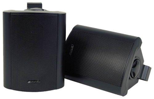 Stereo-Aktiv-Lautsprecher-Paar-Wandhalter-SCHWARZ