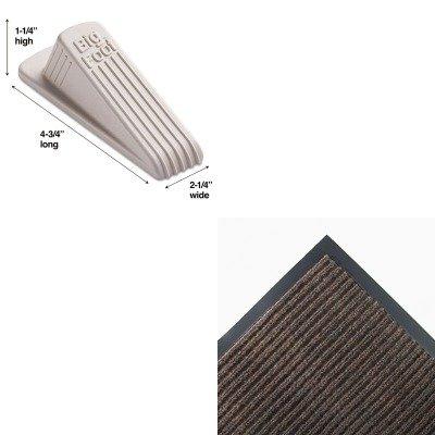 KITCWNNR0046BRMAS00900 - Value Kit - Crown NR46 BRO Needle-Rib Indoor Wiper/Scraper Mat 4' x 6', Brown (CWNNR0046BR) and Master Mfg 00900 Big Foot Doorstop, Beige (MAS00900)