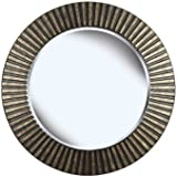 Kenroy Home North Beach Wall Mirror With Bronze Finish, 34-Inch Diameter
