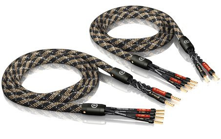 1Pair 8,0M Viablue Sc-4 Silver-Series Bi-Wire Speaker Cable Crimp