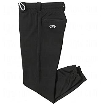Rawlings Youth Pull Up YBEP31 Baseball Pant, Black, Youth Small