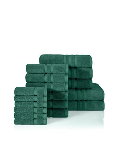 Chortex 17-Piece Ultimate Towel Set, Forest Green