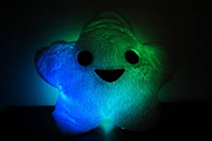 LED Lighted Glow Pillow- Star