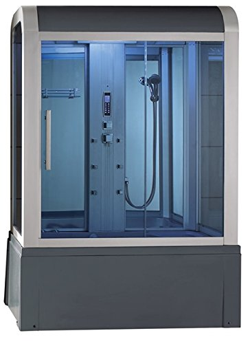 Eagle-Bath-WS-501-110v-ETL-Certifired-Steam-Shower-Enclosure-3KW-generator-with-Whirlpool-Tub-Computer-Control-Panel-6-mm-Tempered-Blue-Glass-and-Acupuncture-Massage-6