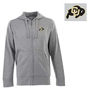 Colorado Signature Full Zip Hooded Sweatshirt (Grey) - Small by Antigua