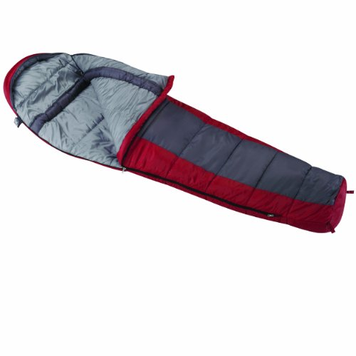 Wenzel Windy Pass 0-Degree Mummy Sleeping Bag, Red/Grey, 33 X 84-Inch front-233246