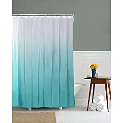 @home by Nilkamal Blue Gradation Teal Shower Curtains