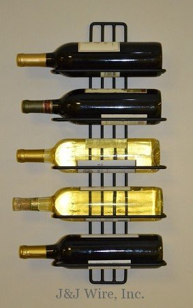 J&J Wire 5-Bottle Wall Wine Rack (Wire Wall Wine Rack compare prices)