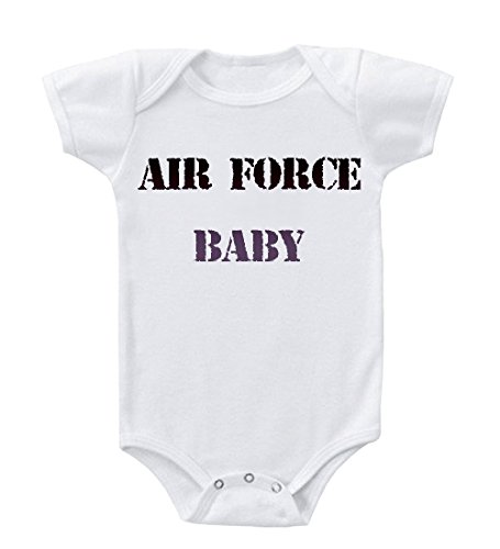 Air Force Baby 100 % Cotton Baby Infant Toddler Baby Bodysuit Creeper White 6 Months front-876609