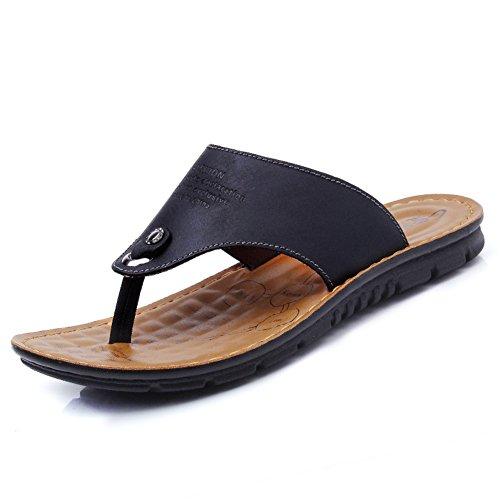 sandali di cuoio e ciabatte/Versione coreana maschile flussi nella cartella di personalità maschile estate trascinare il trascinamento di sabbia/Suole di marea pizzico antiscivolo moda-B Lunghezza piede=26.3CM(10.4Inch)