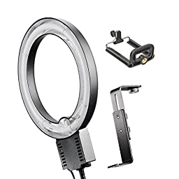 Studio 40W Ring Lamp Light + Camera Bracket + Mobile Phone iPhone Holder 110V
