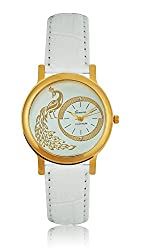 Geneva Platinum Analog Silver Dial Womens Watch- GP-184