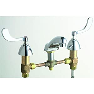 Faucets 404-V317ABCP 8-Inch Widespread 2-Handle Low Arc Bathroom ...