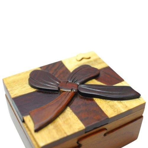 Handmade Wooden Art TRICK SECRET Gift Trinket Box Puzzle Box (3027)