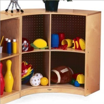 Whitney Brothers Birch Laminate Curved Storage