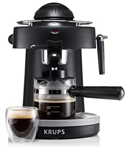 KRUPS XP1000 Steam Espresso Machine with Frothing Nozzle for Cappuccino, Black