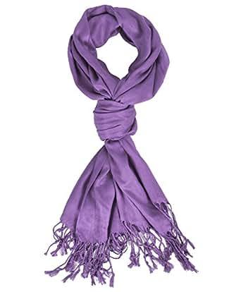 Elegant Purple Pashmina Scarf at Amazon Women's Clothing
