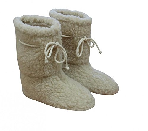 Natural vendita! & Wonderful lana Merino Pantofole in lana di pecora, comfort Foot-Stivaletti da donna, suola antiscivolo, 100% lana, Woolmarked tutte le taglie 3, 4, 5, 6, 7, 8, Lana, 7/8