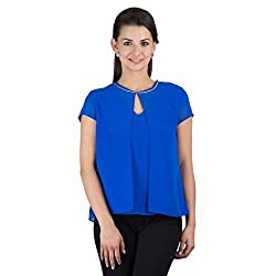 Y & I Women's Top (YIWT15033_Blue_Large)