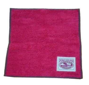 Red pig handkerchief tag label Porco