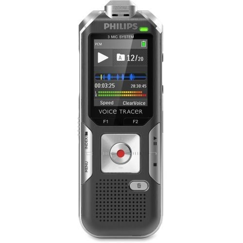 Philips DVT6010 Voice Tracer 6010 Digital Recorder, 8 GB, Gray/Silver