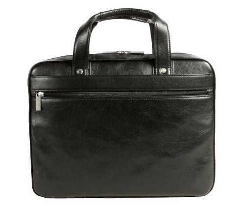 Dr. Koffer Fine Leather Accessories Slim Laptop Bag (Black Venetian)