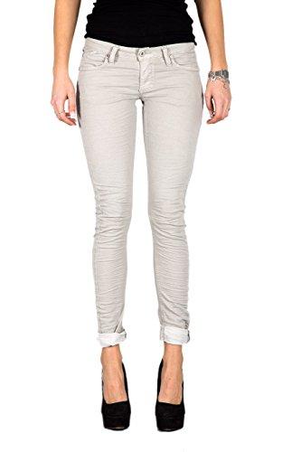 PLEASE - P21edb04u jeans da donna pantaloni slim fit xs grigio chiaro