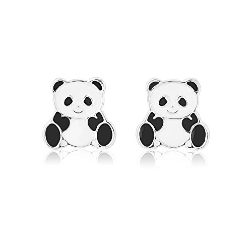 Panda Earrings For Girls With Pierced Ears - Includes Gift Bag