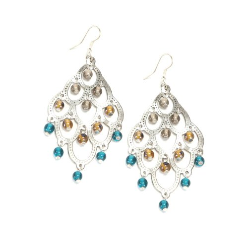Chandelier Earrings- Teal