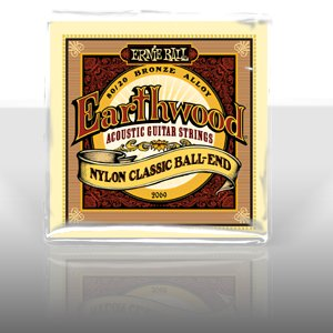 Ernie Ball 2069 Earthwood Folk Nylon, Clear &