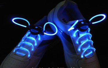 Hoter Led Fiber Optic Shoelaces - Magically Lighting In The Night With Blue, Red, Green, Pink, Orange And Yellow To Choose! - Pink