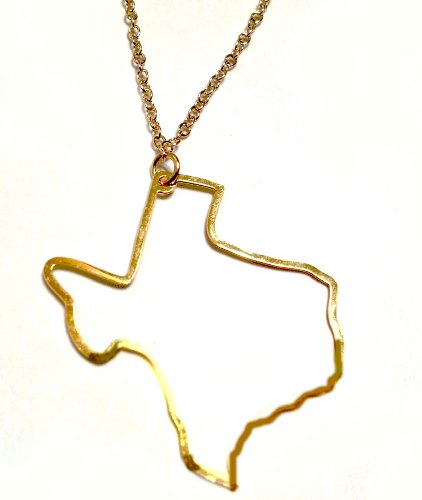 Kris Nations Texas Pendant Necklace (Gold)