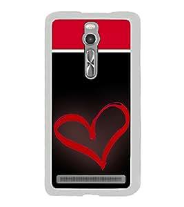 Heart 2D Hard Polycarbonate Designer Back Case Cover for Asus Zenfone 2 ZE551ML