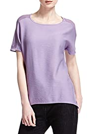 Textured Elliptical Hem T-Shirt [T50-6177-S]