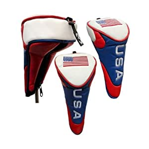 USA AMERICAN FLAG Golf Headcover for Fairway Woods
