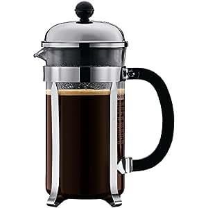 Bodum Chambord 8 Cup Shatterproof French Press Coffeemaker, Chrome, 1.0 liter, 34-Ounce