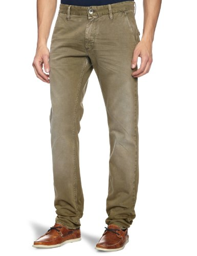 GAS 360565 064165 Noal F 0252 Slim Mens Trousers Deep Mud W31INxL34IN