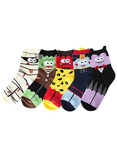 Set of 5 Women's Halloween Character Socks