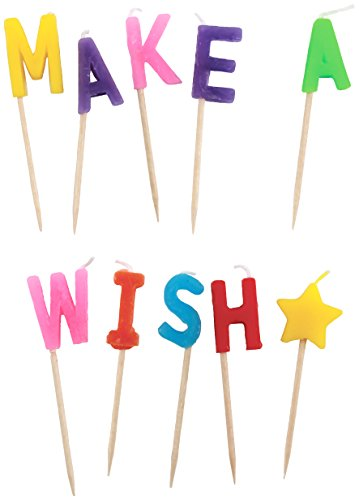 Party Partners Design Candid Candles: Make A Wish, Multicolored - 1