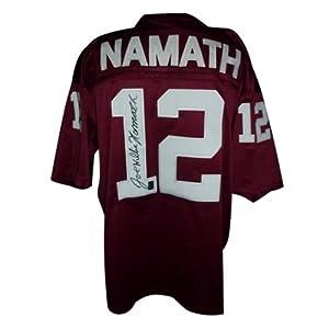 Joe Namath Autographed Alabama Crimson Tide (Maroon #12) Jersey by PalmBeachAutographs.com