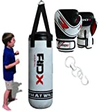 Authentic RDX Unfilled Kids Punch Bag Set Boxing Gloves,MMA Training Kick Ball Junior children