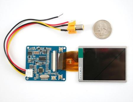 """2.5"""" Lcd Display With Composite Input For Raspberry Pi"""