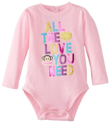Paul Frank Baby-Girls Newborn All The Love You Need Bodysuit, Pf Pink, 3-6 Months front-1026407