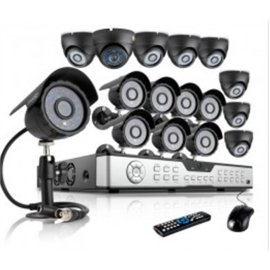 ZMODO 600TVL Surveillance Home Security Camera System 16CH H.264 DVR 8 Dome 8 Bullet 600TVL Cameras No Hard Drive