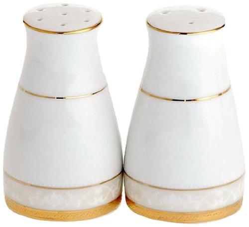 Noritake Hampshire Salt and Pepper Shaker, Gold (Noritake Salt And Pepper Shakers compare prices)