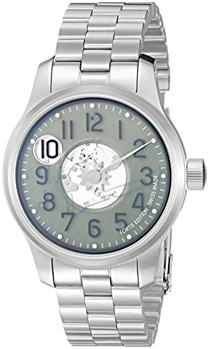 Fortis-Mens-7101037-M-F-43-Jumping-Hour-Analog-Display-Automatic-Self-Wind-Silver-Watch