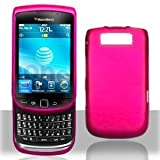 41wva1Okq4L. SL160  Hot Pink Snap On Rubber Feel Cover Hard Case Cell Phone Protector for RIM BlackBerry Torch 9800 / Torch 9810 / 9810 4G / Torch 2