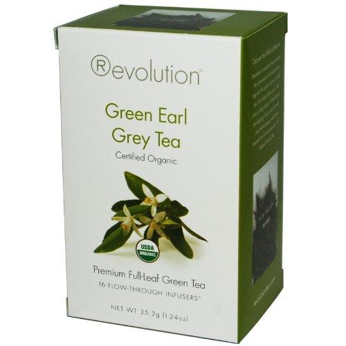 Revolution Tea - Organic Green Earl Grey Tea, 16 Bag